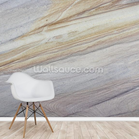 Faux Marble mural wallpaper room setting