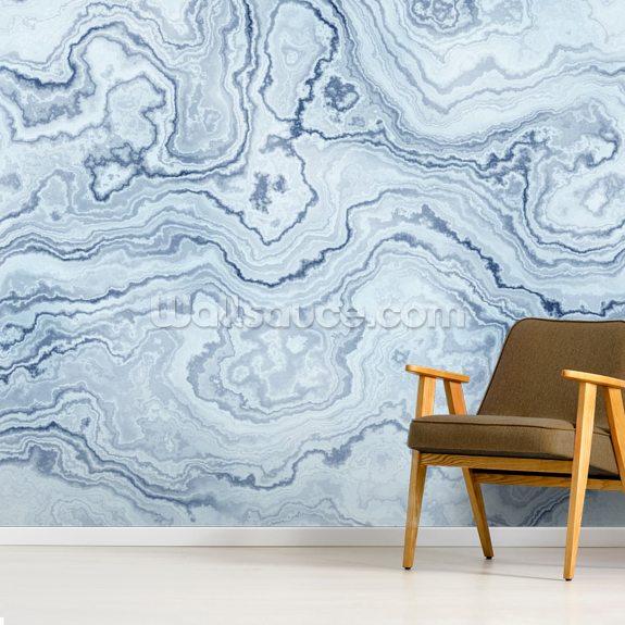 Light Blue Marble Wall Mural Wallsauce Uk