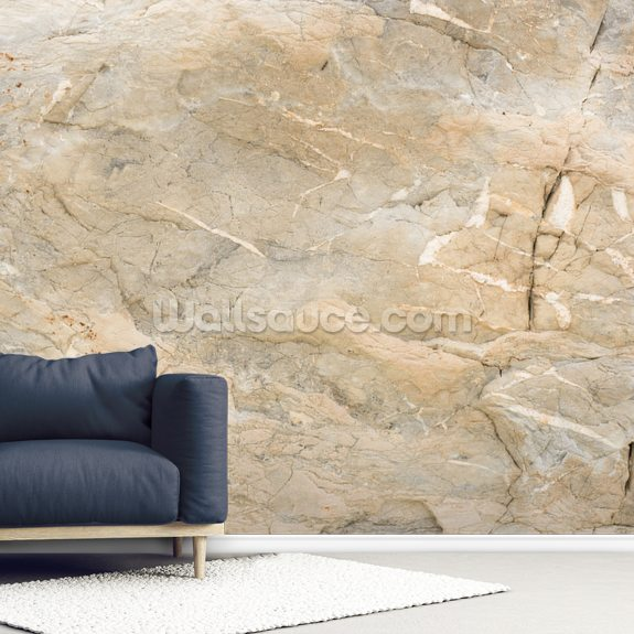 Natural Marble wallpaper mural room setting