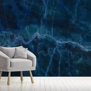 Dark Blue Marble Wallpaper Wall Murals