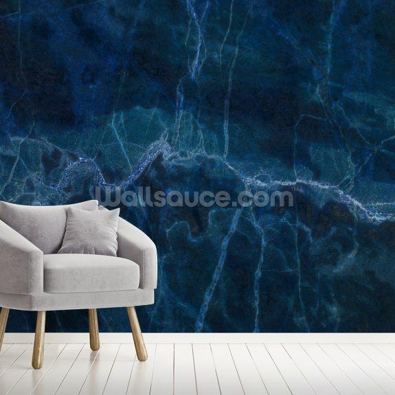 Dark Blue Marble Wall Mural Wallsauce Au