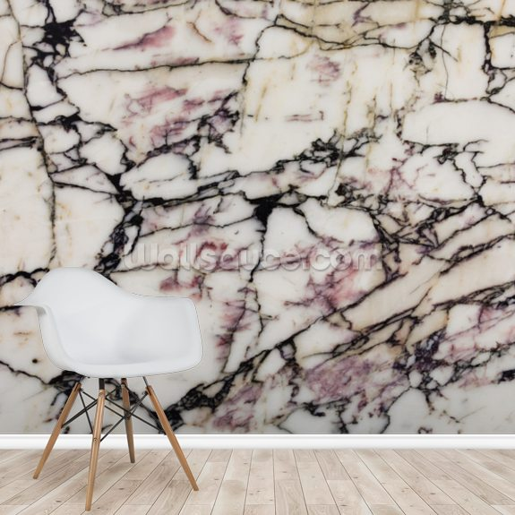 Marble Effect wall mural room setting
