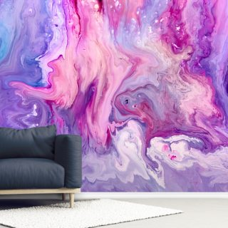 Purple Paint Marble Effect