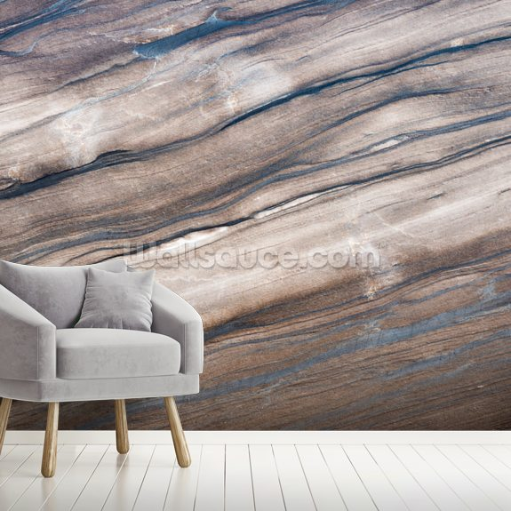 Brown Marble wallpaper mural room setting