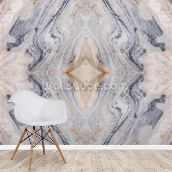 Patterned Marble wallpaper mural room setting