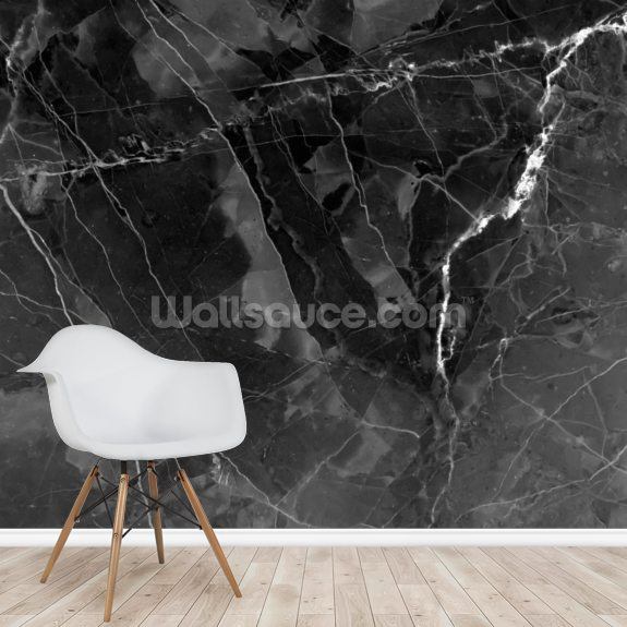 Marble - Charcoal wall mural room setting