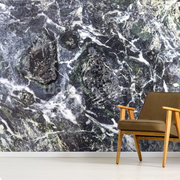Black Marble wallpaper mural room setting