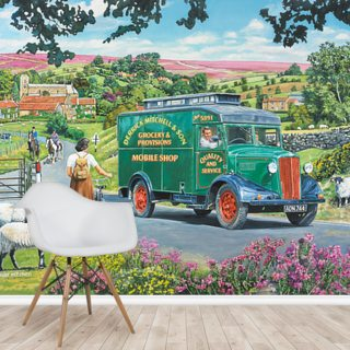Over Hill and Dale Wallpaper Wall Murals