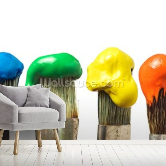 Brushes With Colourful Paint