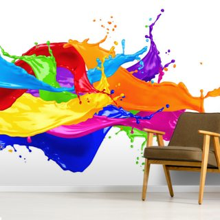 Wild Colour Splash Wallpaper Wall Murals