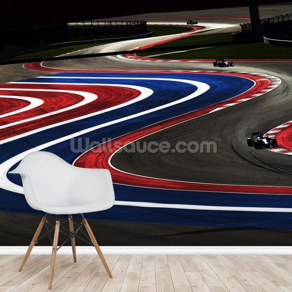 Turn 2,3,4 and 5 USA 2014 wallpaper mural room setting
