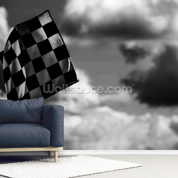 Chequered Flag 2 Belgium 2014 mural wallpaper room setting