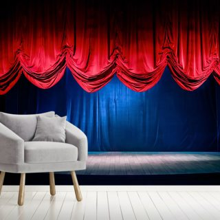 Theater Curtain with Dramatic Lighting Wallpaper Wall Murals