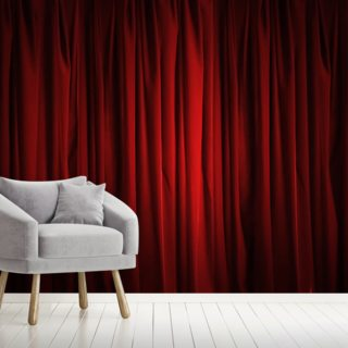 Red Curtain Wallpaper Wall Murals