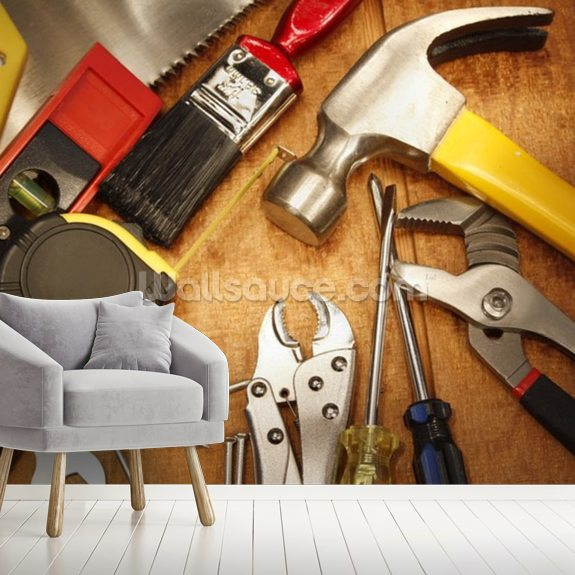 Tools Wall Mural Room Setting
