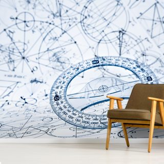 Protractor Wallpaper Wall Murals
