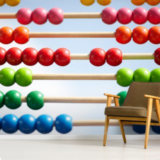 Wodden Abacus in Front of Blue Sky Wallpaper Wall Murals