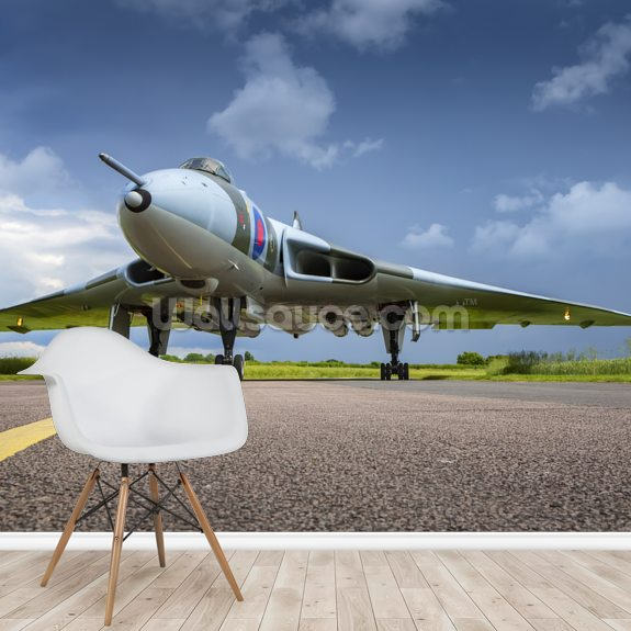 Avro Vulcan Bomber on taxiway wall mural room setting