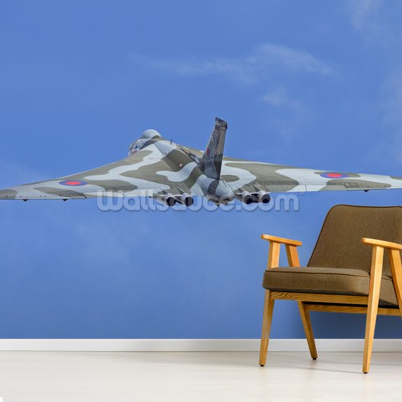 Avro Vulcan Bomber rear view mural wallpaper room setting