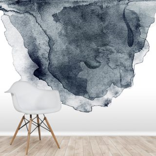 Charcoal Swirl Watercolor Wallpaper