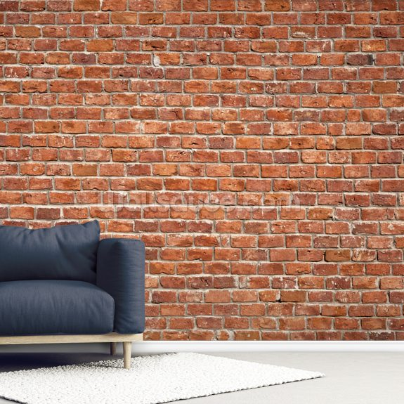 Old Brick Wall wallpaper mural room setting
