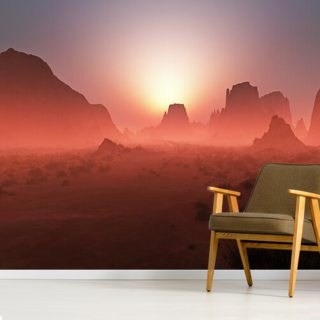 Red rocky desert landscape Wallpaper Wall Murals