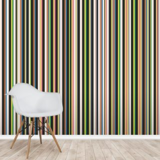 Twisted Pixels Stripes Wallpaper Wall Murals