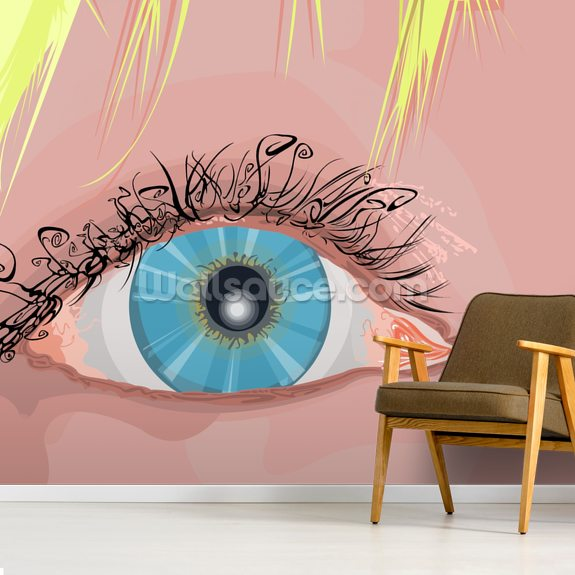 The Eye Wall Mural The Eye Wallpaper Wallsauce Australia