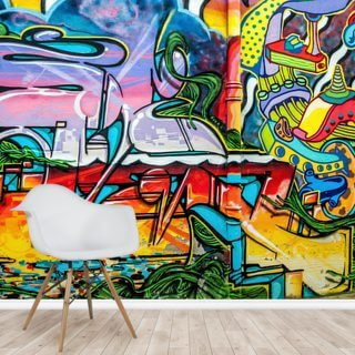Colourful Graffiti Mural