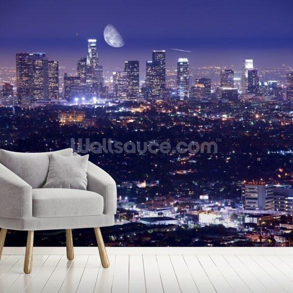 Wallpaper Los Angeles: Los Angeles At Night Wallpaper Mural