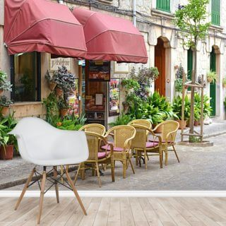 Mediterranean House Facade Wallpaper Wall Murals