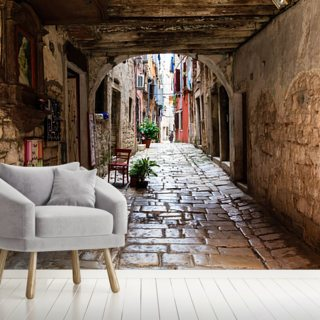 Rovinj Passageway, Croatia Wallpaper Wall Murals