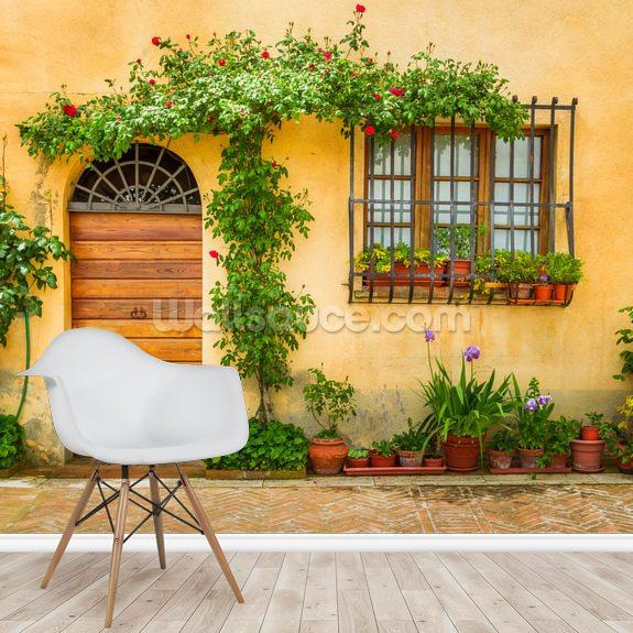 Wallpaper House Beautiful: Beautiful Village House, Italy Wallpaper Mural