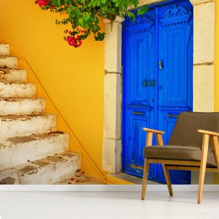 Colourful Doorway, Symi, Greece