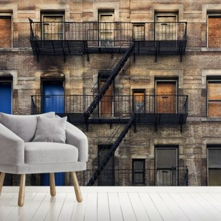 Fire Escape Facade Wallpaper Wall Murals
