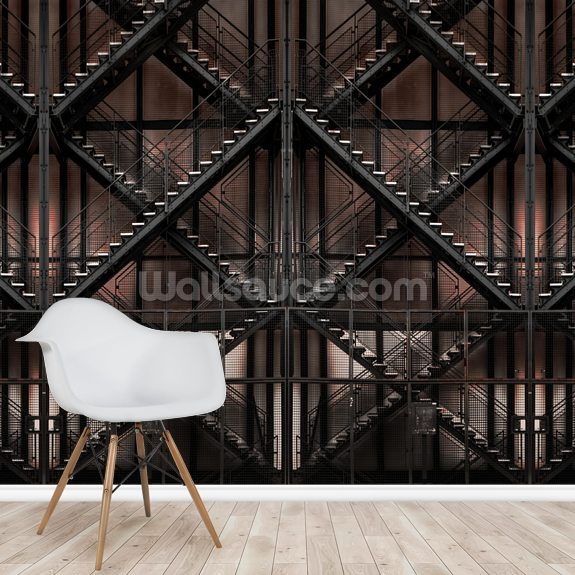 Infinite Stairs wall mural room setting