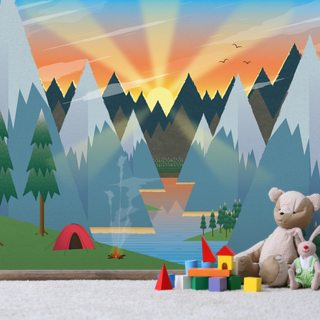 Camping Wallpaper Wall Murals
