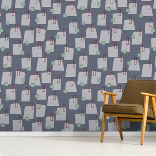 Grey Village Wallpaper Wall Murals