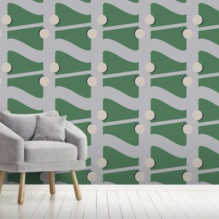 Fibre Green Wallpaper Wall Murals