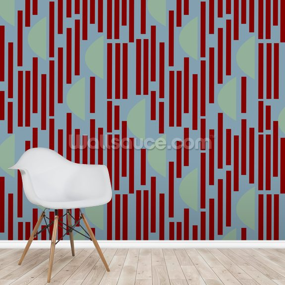 Red Eclipse wallpaper mural room setting