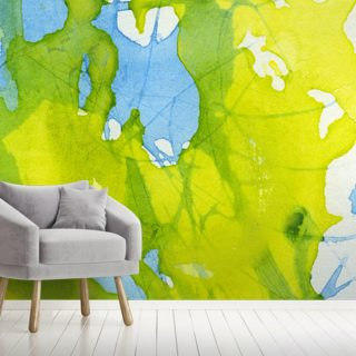 Watercolor Green and Blue Wallpaper
