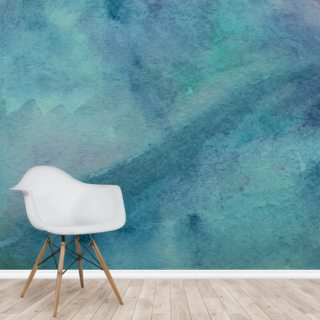Abstract Turquoise Watercolor