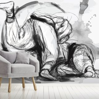 Judo Randori Wallpaper Wall Murals