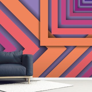 Purple and Orange Cutout