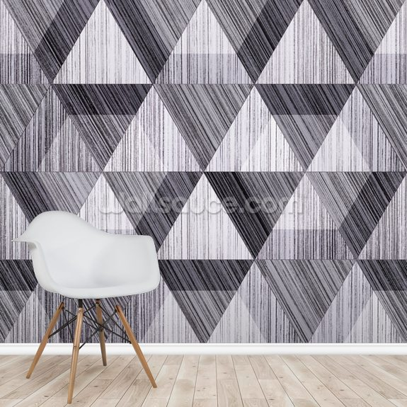 Black And White Polygon Wallpaper Mural Wallsauce Nz