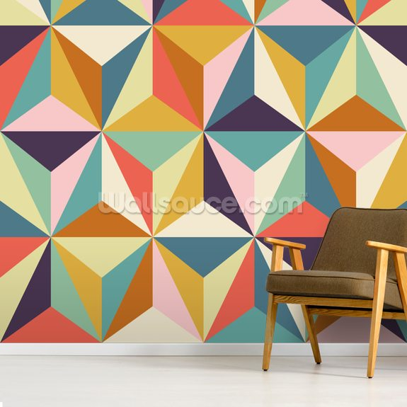 Diamonds Geometric Wallpaper Wallsauce Uk