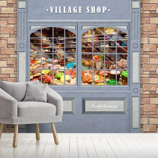 Village Shop Wallpaper Wall Murals