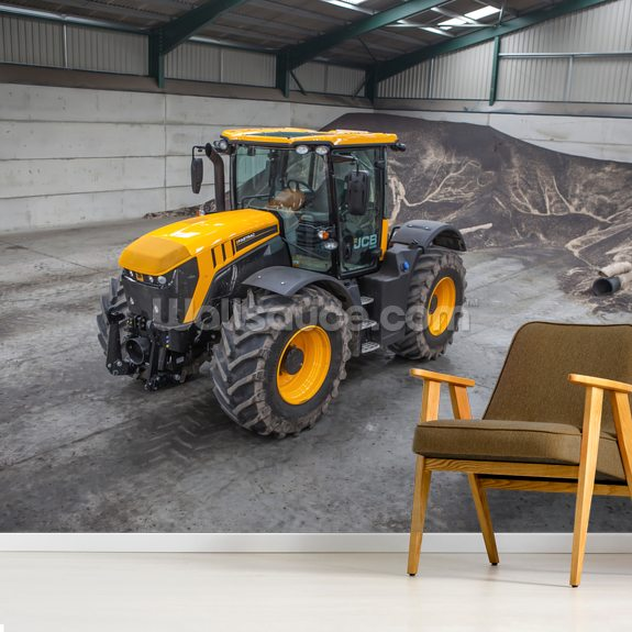 Fastrac JCB mural wallpaper room setting