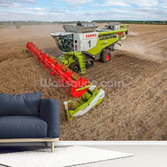Lexion 780 mural wallpaper room setting