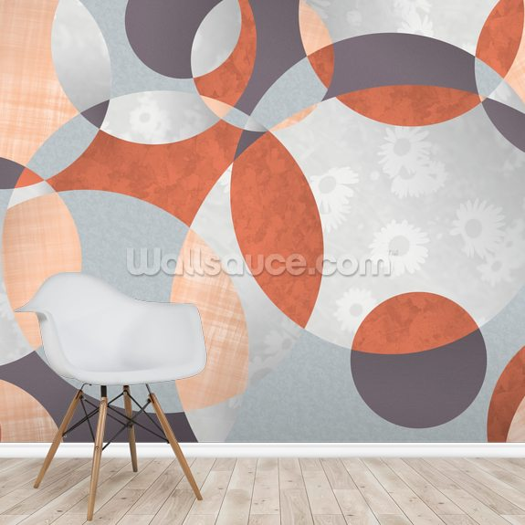 Flower Spiral wall mural room setting